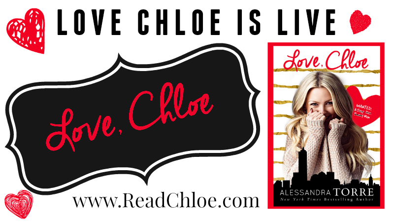 Release Day Blitz: Love, Chloe by Alessandra Torre