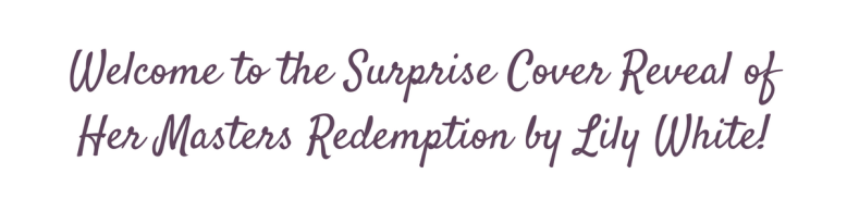 Masters Redemption - Cover Reveal
