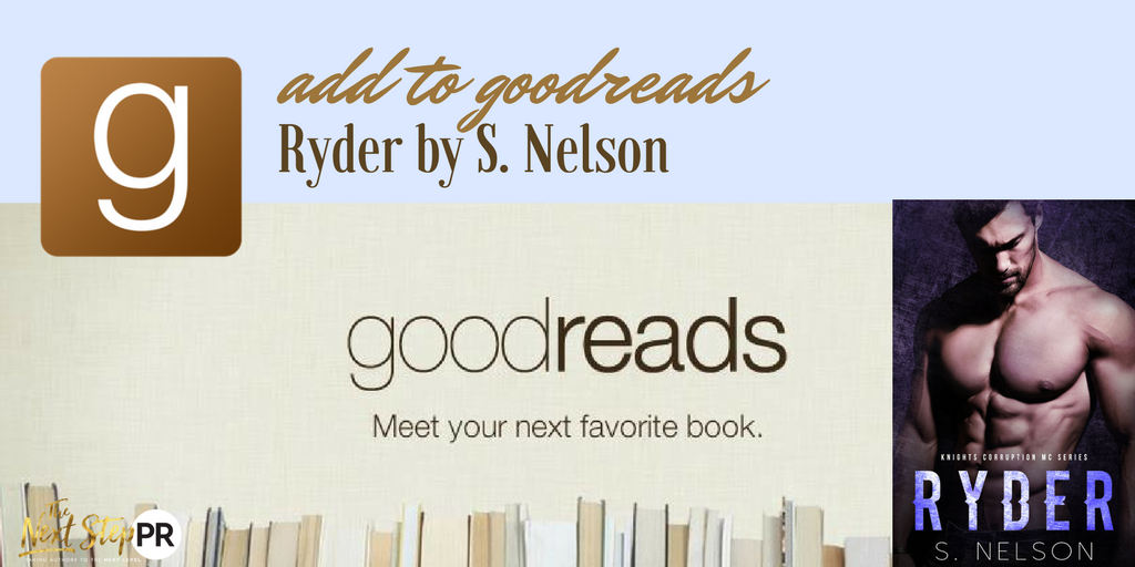 ADD TO GOODREADS RYDER S. NELSON WITH COVER