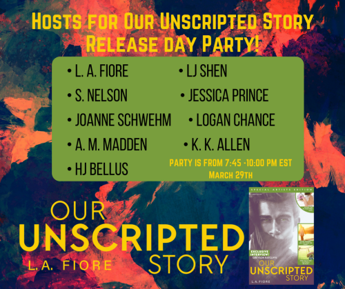 Hosts for Our Unscripted Story Release day Party! MAIN!