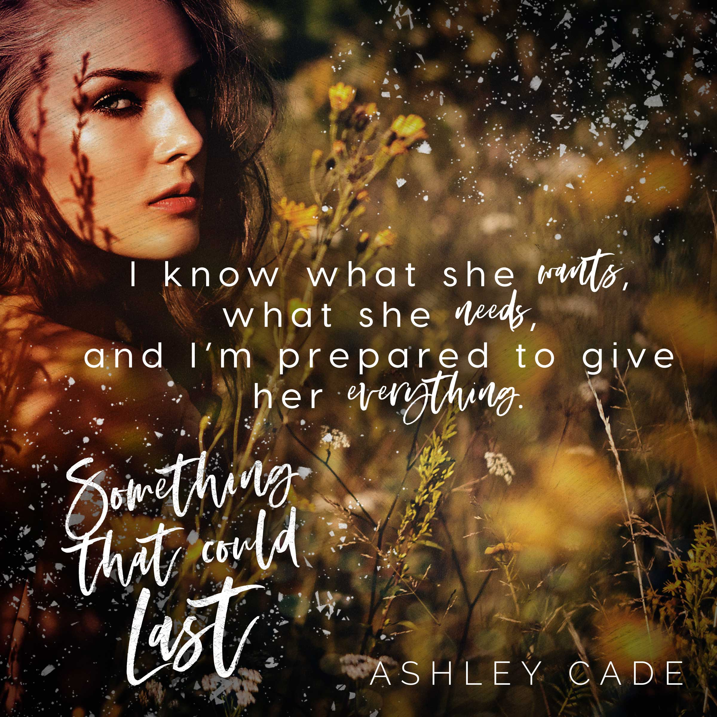 Release Day (May 13) Something That Could Last Teaser Ashley Cade